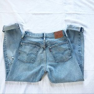 Vintage Levis 501 Jeans Button Fly Distressed